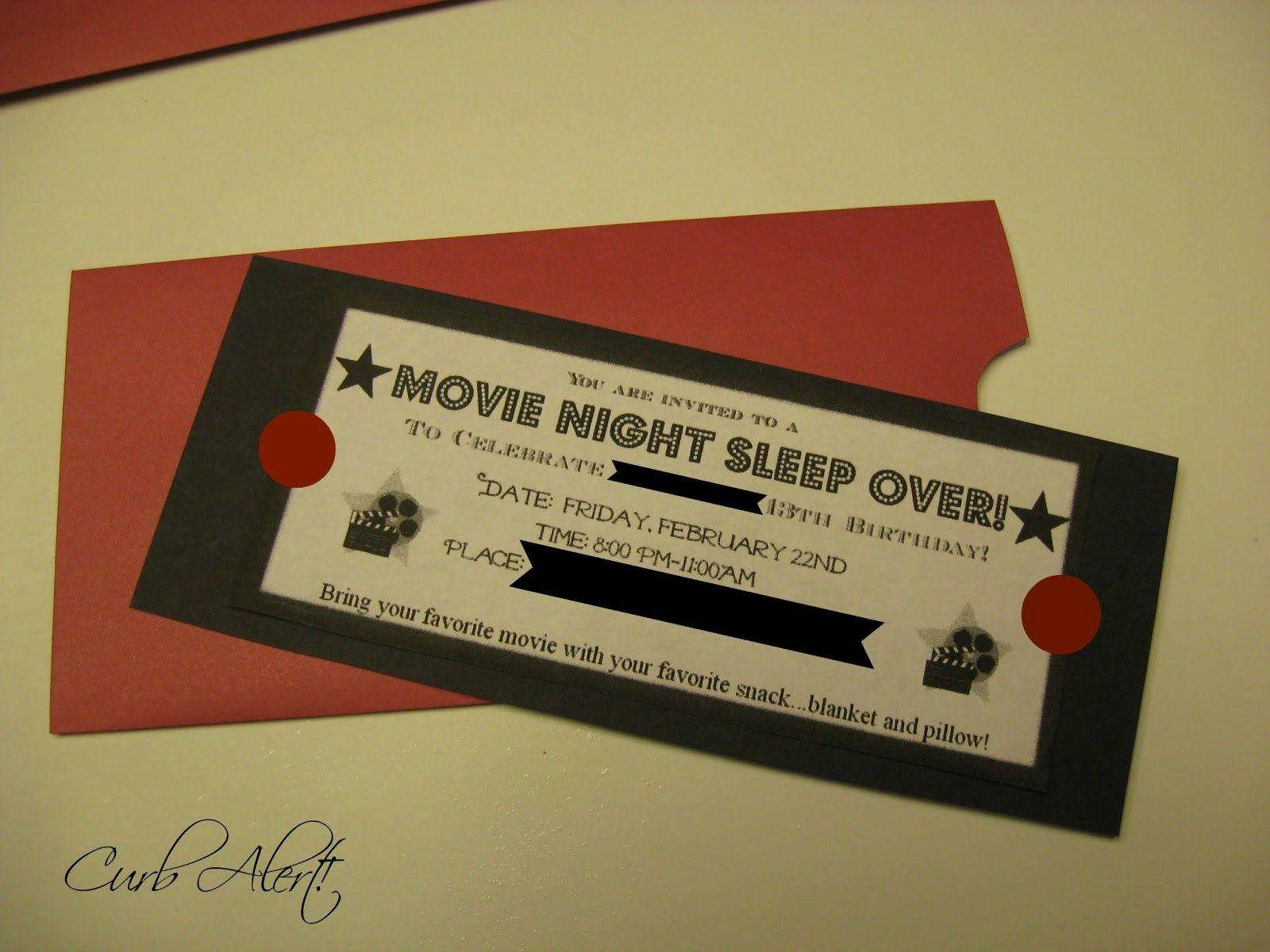 DIY Movie Party Invitation {using PicMonkey}   Camera, Photos, Etc ...