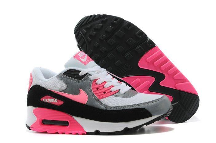 superior quality d9cbf ec9c0 Nike Air Max 90 Deportes Zapatos Negro Rojo Blanco Online