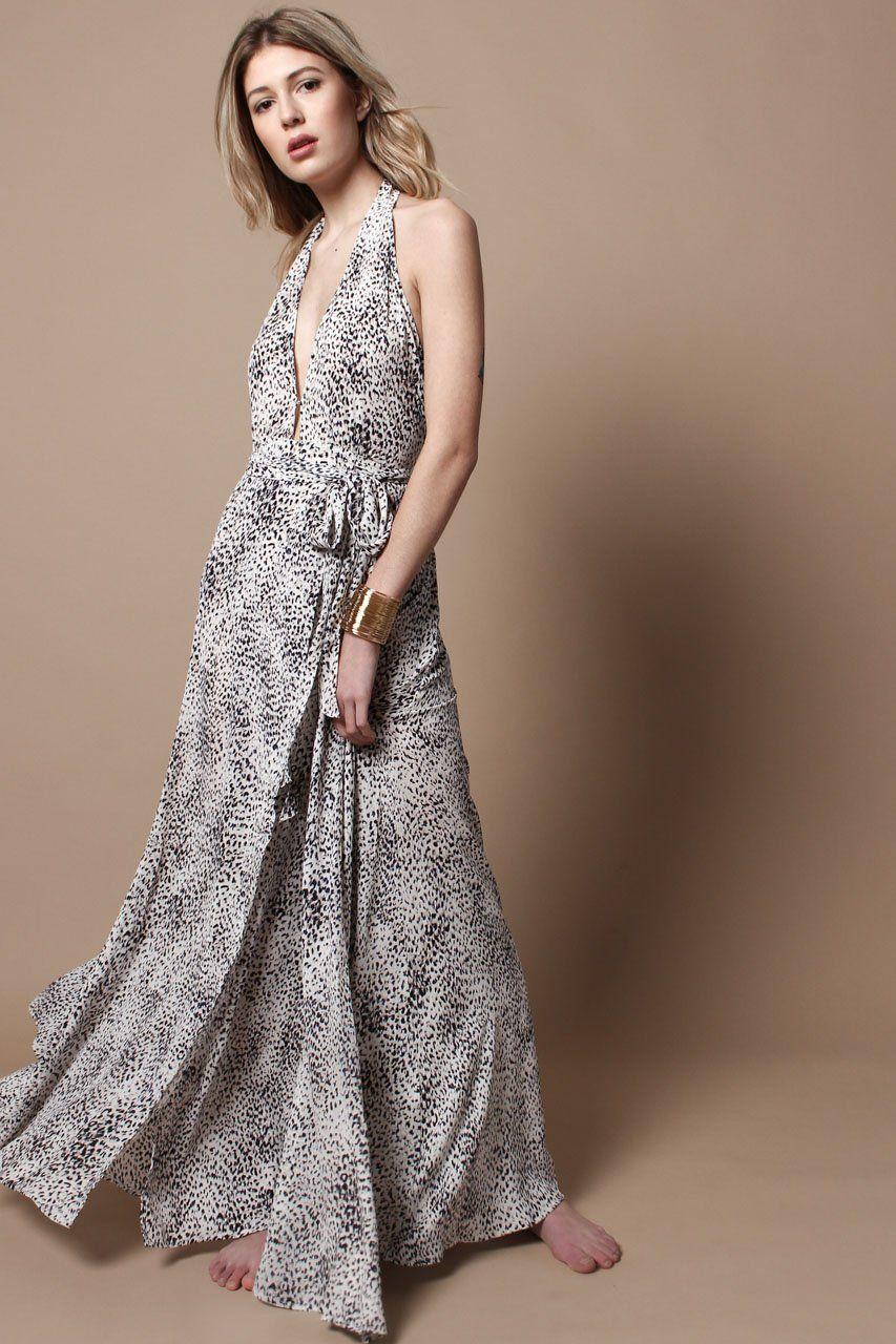 Gone wild boho formal maxi dress u calico black and white in