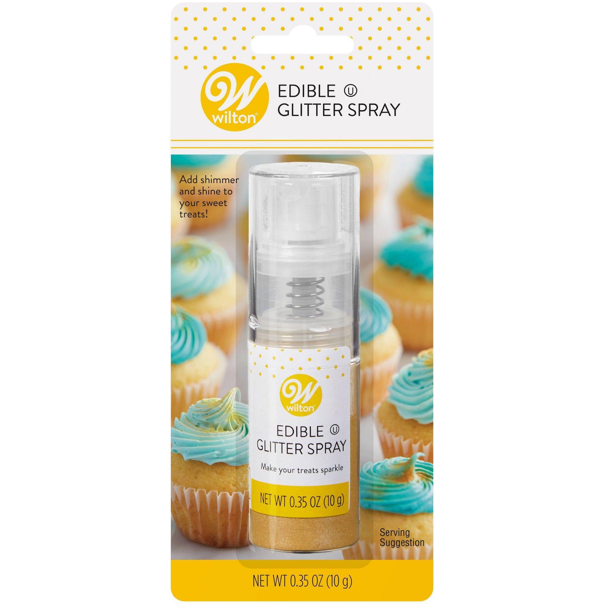Wilton .35oz Food Coloring Edible Glitter Spray - Gold ...