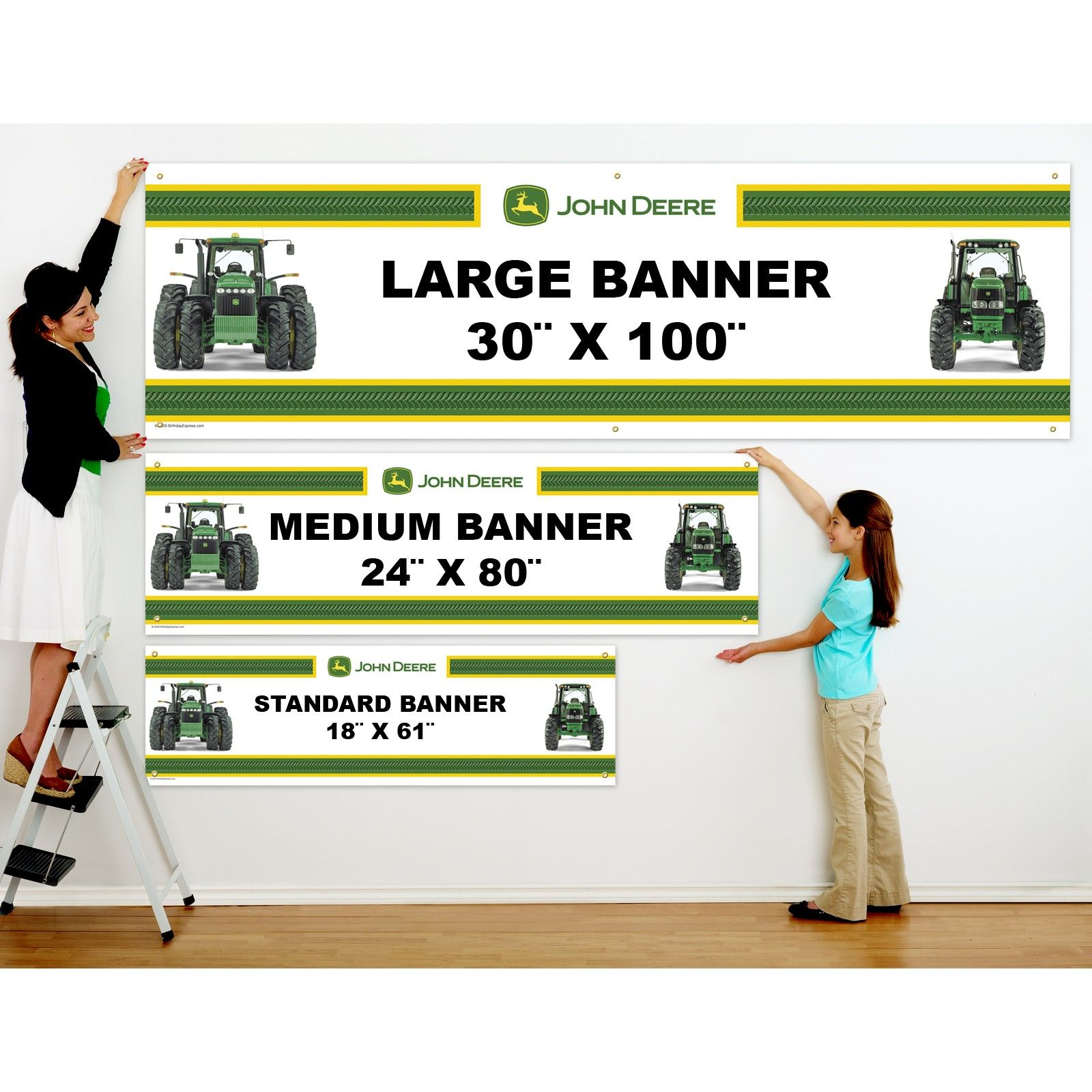 farm tractor personalized text vinyl banner  personalized
