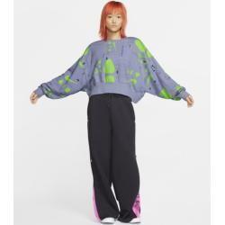 Nike Air Fleece-Rundhalsshirt mit Print für Damen – Blau NikeNike