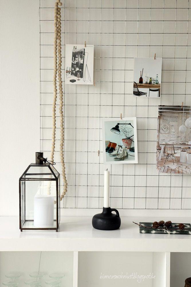 wohnlust ein fliesengitter wie cool diy pinterest fotowand einrichten und wohnen und. Black Bedroom Furniture Sets. Home Design Ideas