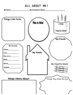 This is a work sheet I designed for when I have a first therapy ...