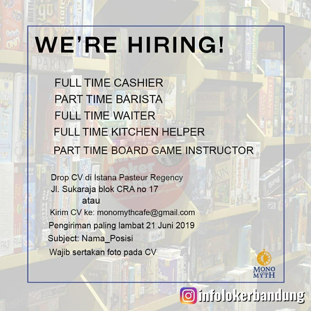 Lowongan Kerja Monomyth Cafe Bandung Juni 2019 Barista Belajar
