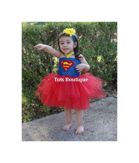 Infant Superman Tutu Dress Inspired by totsboutique on Etsy , via - halloween tutu ideas