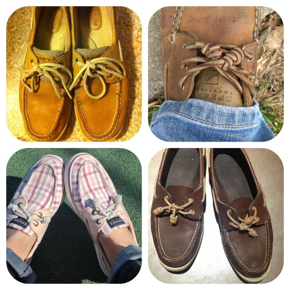Leather laces: Sperry Top Siders, how to tie