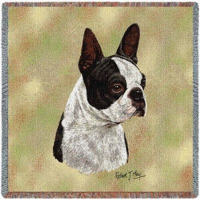 Boston Terrier Black (Tapestry Throw)