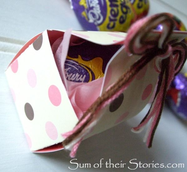 Easter egg gift box crafts gifts and paper make a simple gift box with pom poms for giving little eggs this easter negle Image collections