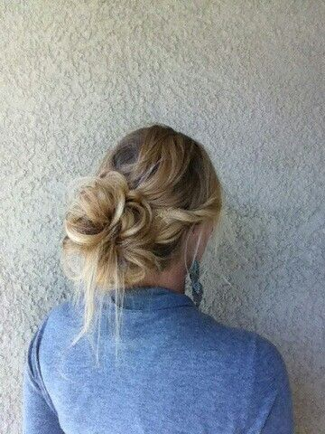 Fun day Bun day.  Messy bun<3