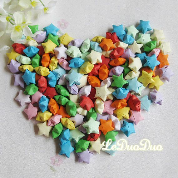 1000pcs Wedding Colorful Handmade Origami Lucky Star By Tencyy 2699