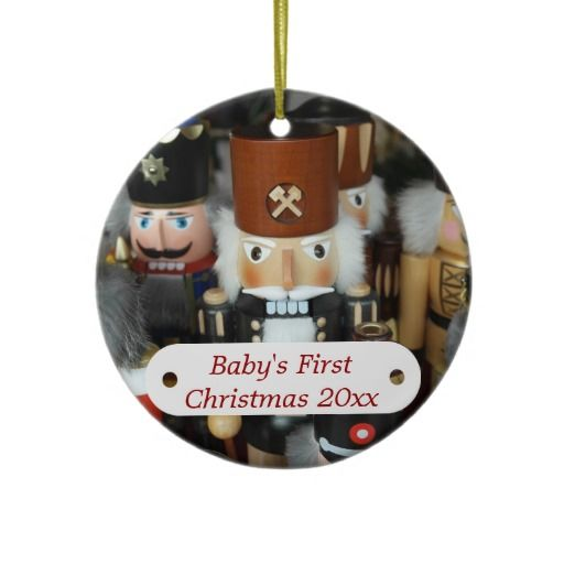 Babys First Christmas Nutcracker Ornament  Personalized Christmas