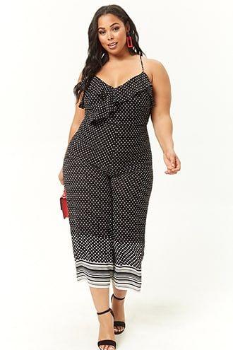 cd7941cd2926 Plus Size Polka Dot Jumpsuit