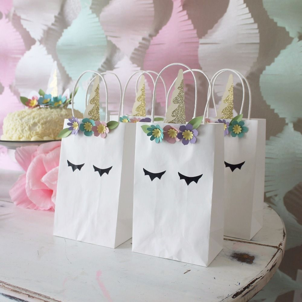 Unicorn Favor Bag | Syntymäpäivä | Pinterest | Favor bags, Favors ...