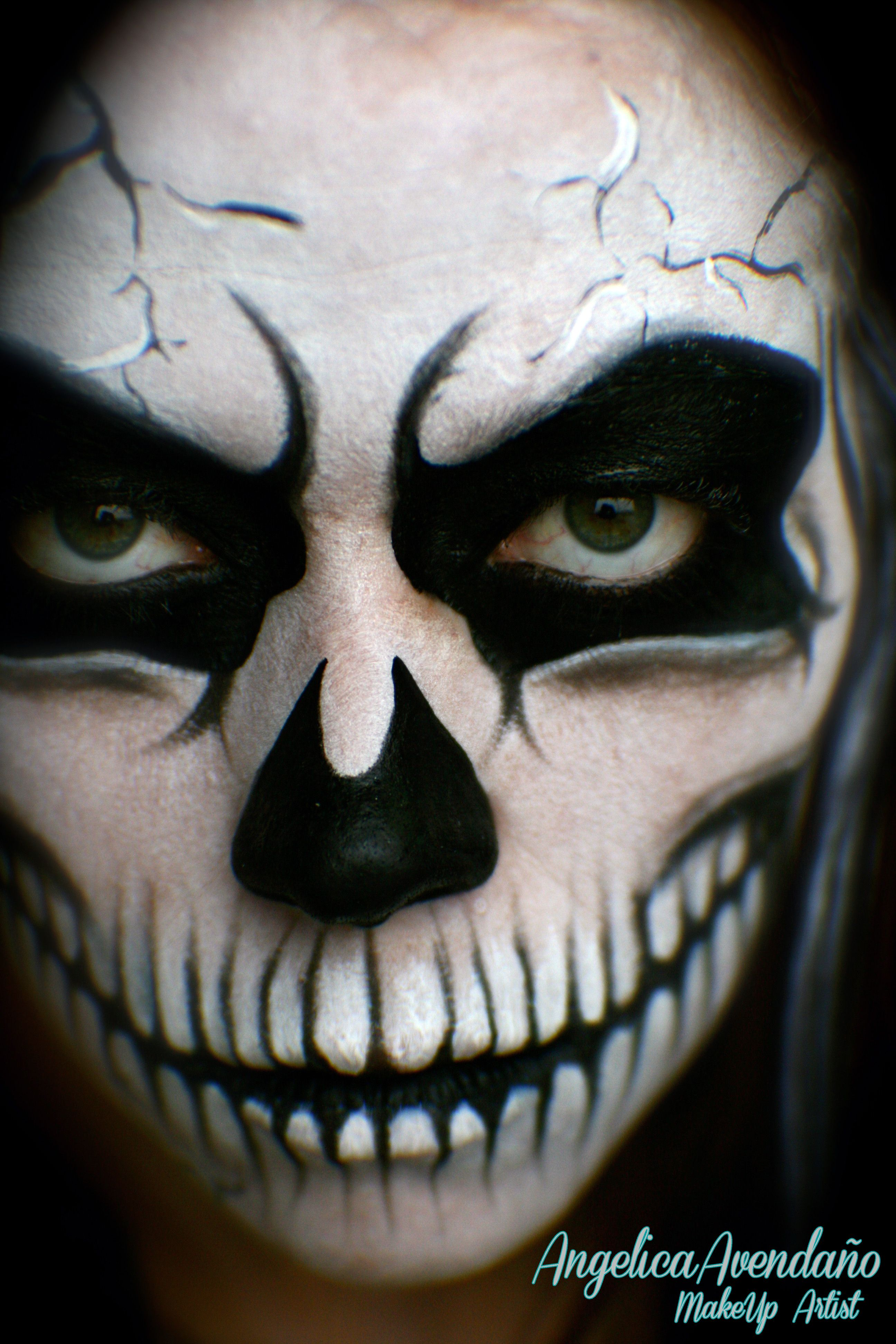 Pictures Of Grim Reaper Face Paint