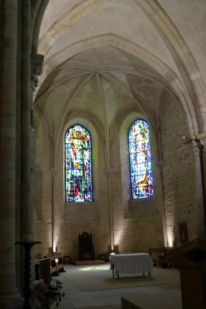 inside St. Pierre de Montmartre (oldest church in Paris)