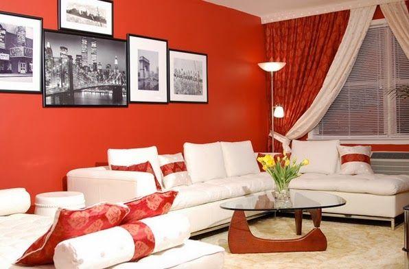 Décoration salon à thème rouge ~ Décoration Salon / Décor de Salon | Déco salon, Idee deco salon, Decoration salon