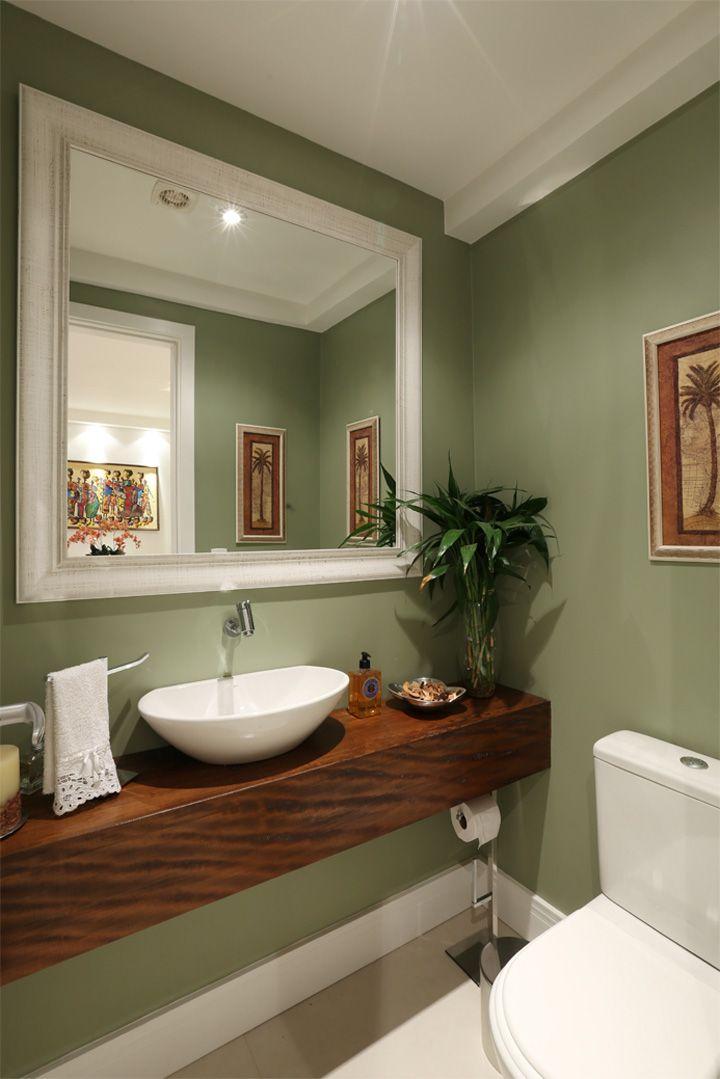 decora o de lavabo parede verde pistache casa de