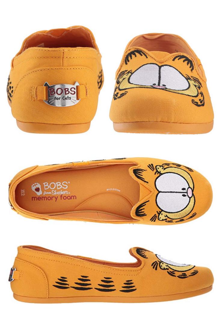 Cute Garfield Cat Women's Skechers BOBS
