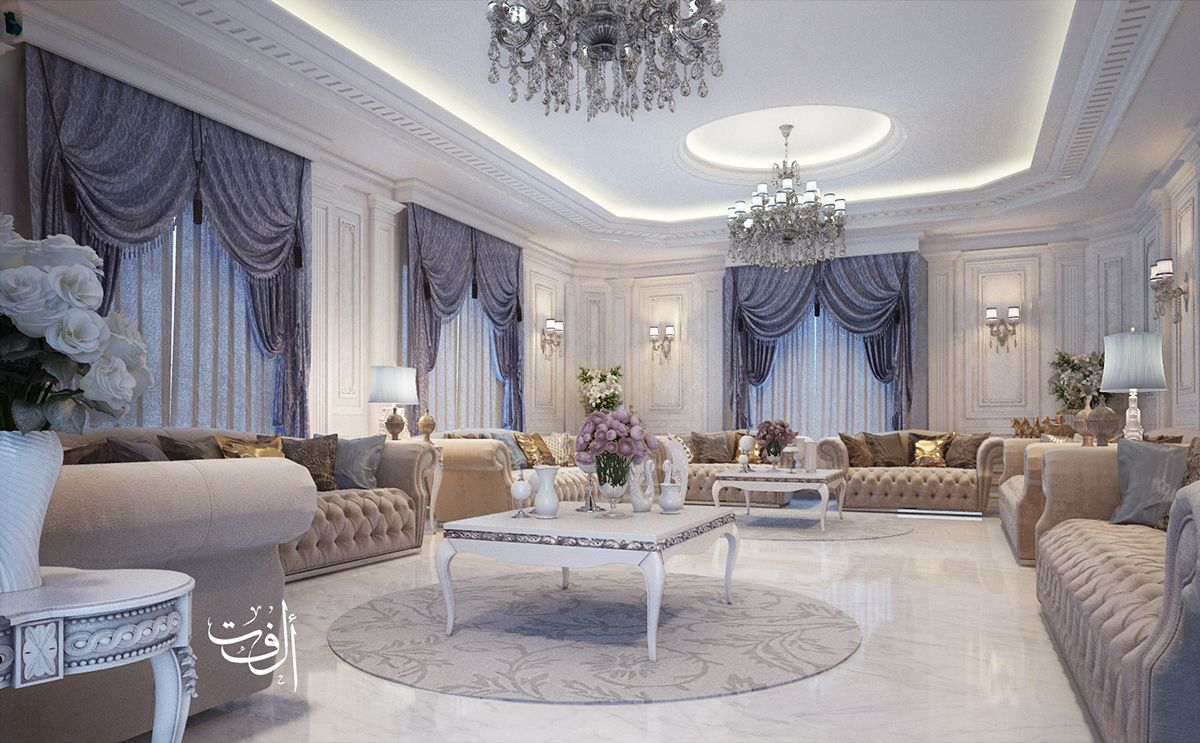 white classic majles on Behance | Luxury furniture design ...