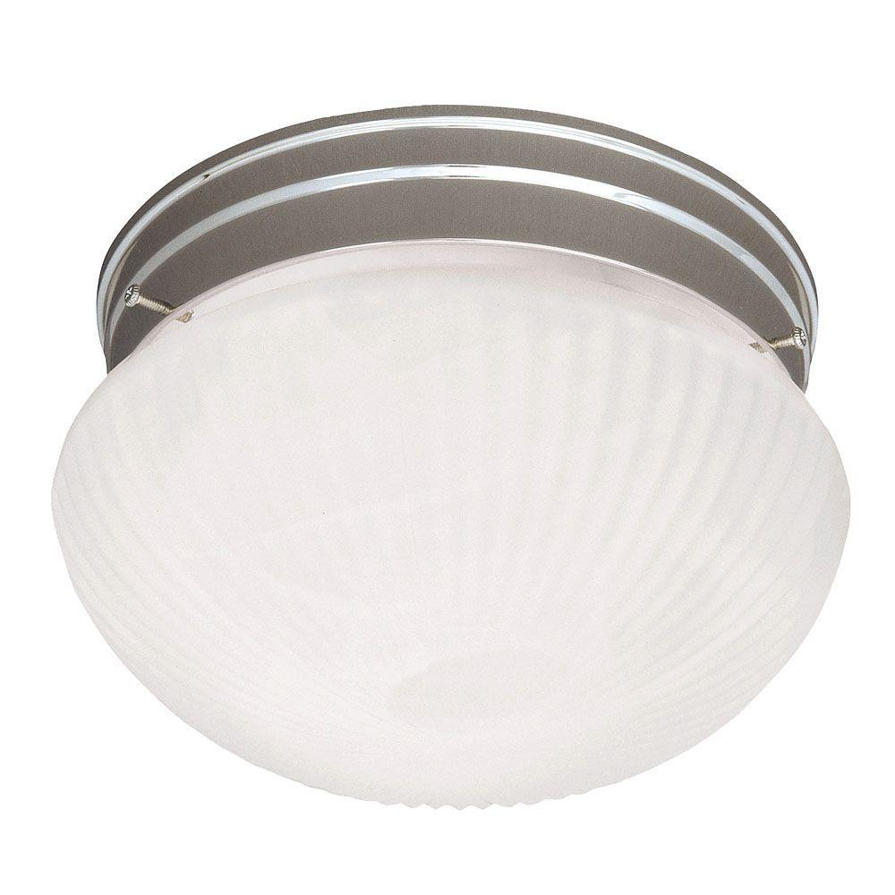 Illumine Satin 2-Light Satin Nickel Incandescent Flush Mount
