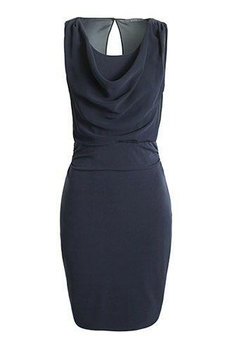 Jersey Kleid mit Chiffon-Drapage | Kleider | Pinterest | Chiffon ...