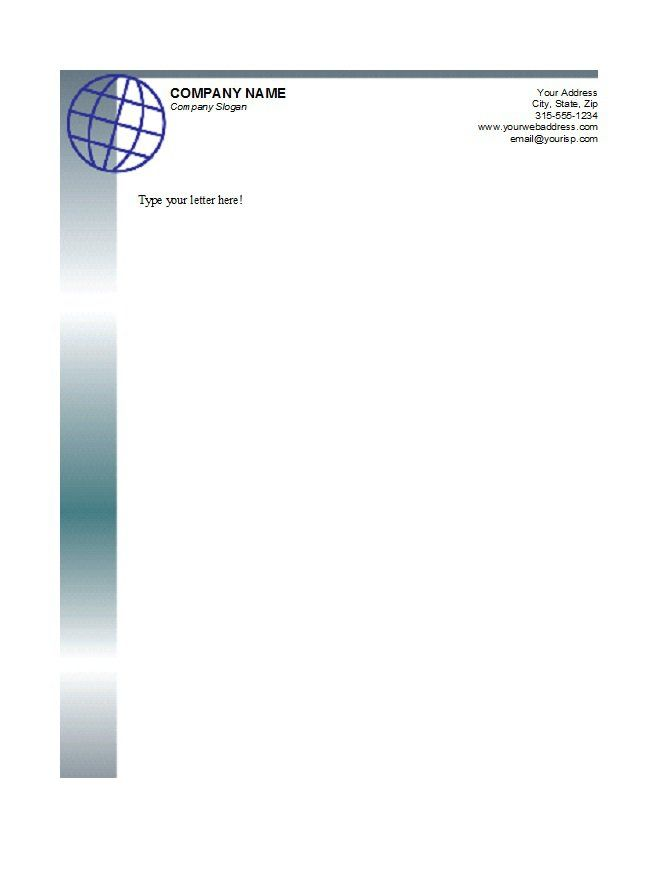 Letterhead Template 03 Stuff to Buy Pinterest Free - letterhead format word