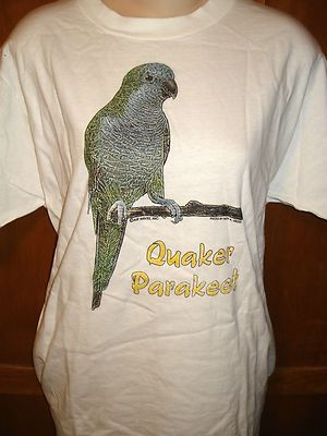 Quaker Parrot T-shirt for Man or Woman - Brand New!