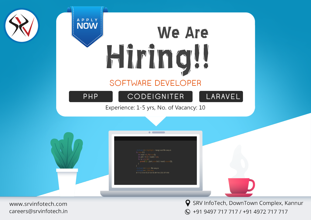 We Are Hiring!!!!! Are you a software developer having 15