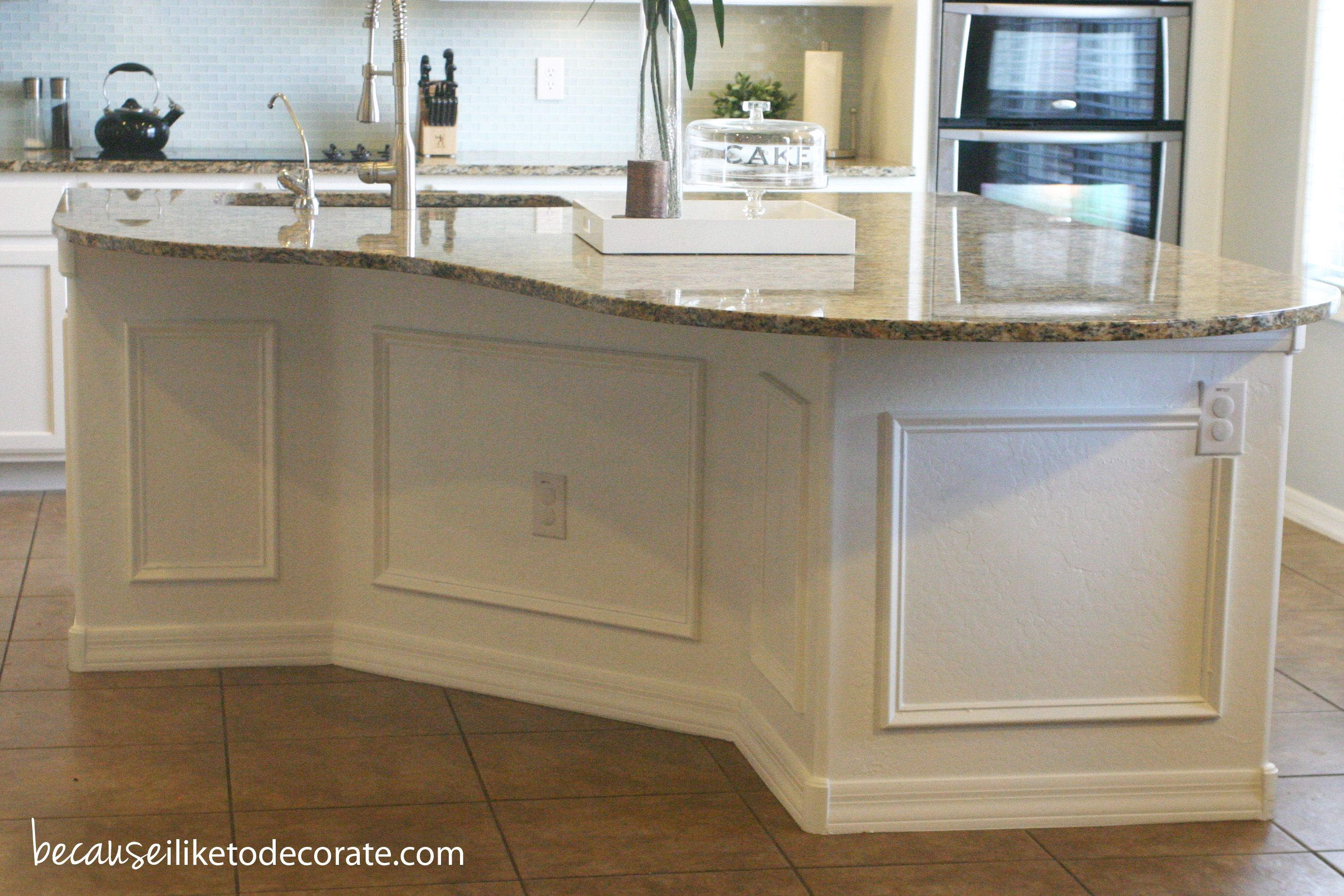 Kitchen Island Makeover With Picture Frame Wainscotting | Home   My .