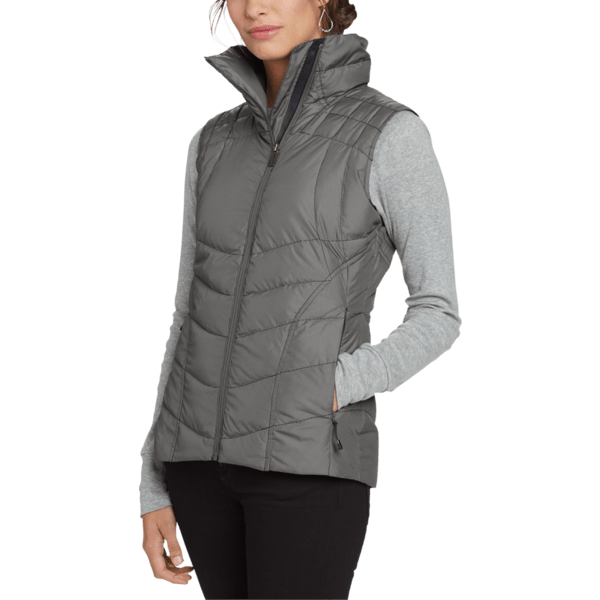 image of Down Check Vest - 800 Fill Goose Down in Thermal Plaid