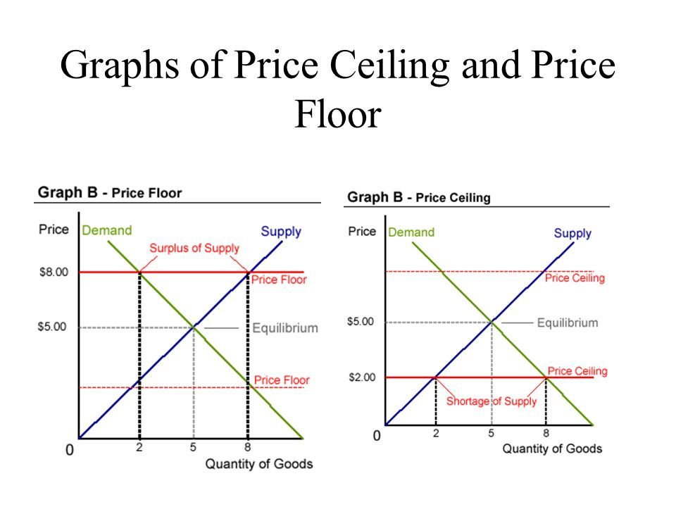 Price Ceilings And Price Floors Floor Price Economics