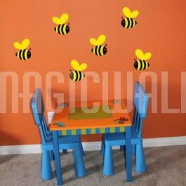 Colourful Bumble Bee - Nursery - Wall Decals | Grow with Me: Baby ...