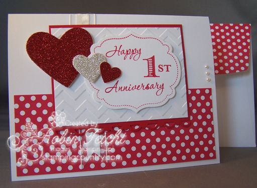 Perky \ fun 1st Anniversary Card Who doesnu0027t love Polka Dot - anniversary card template