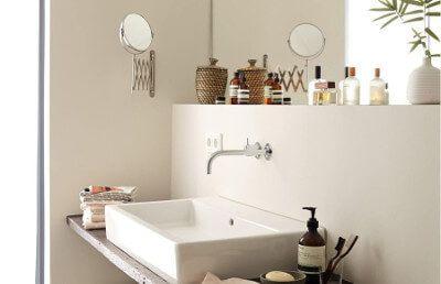 Elegante Gelassenheit So Nennt Alpina Den Angenehmen Beige Ton Der Wandfarbe.  Besonders Im Bad