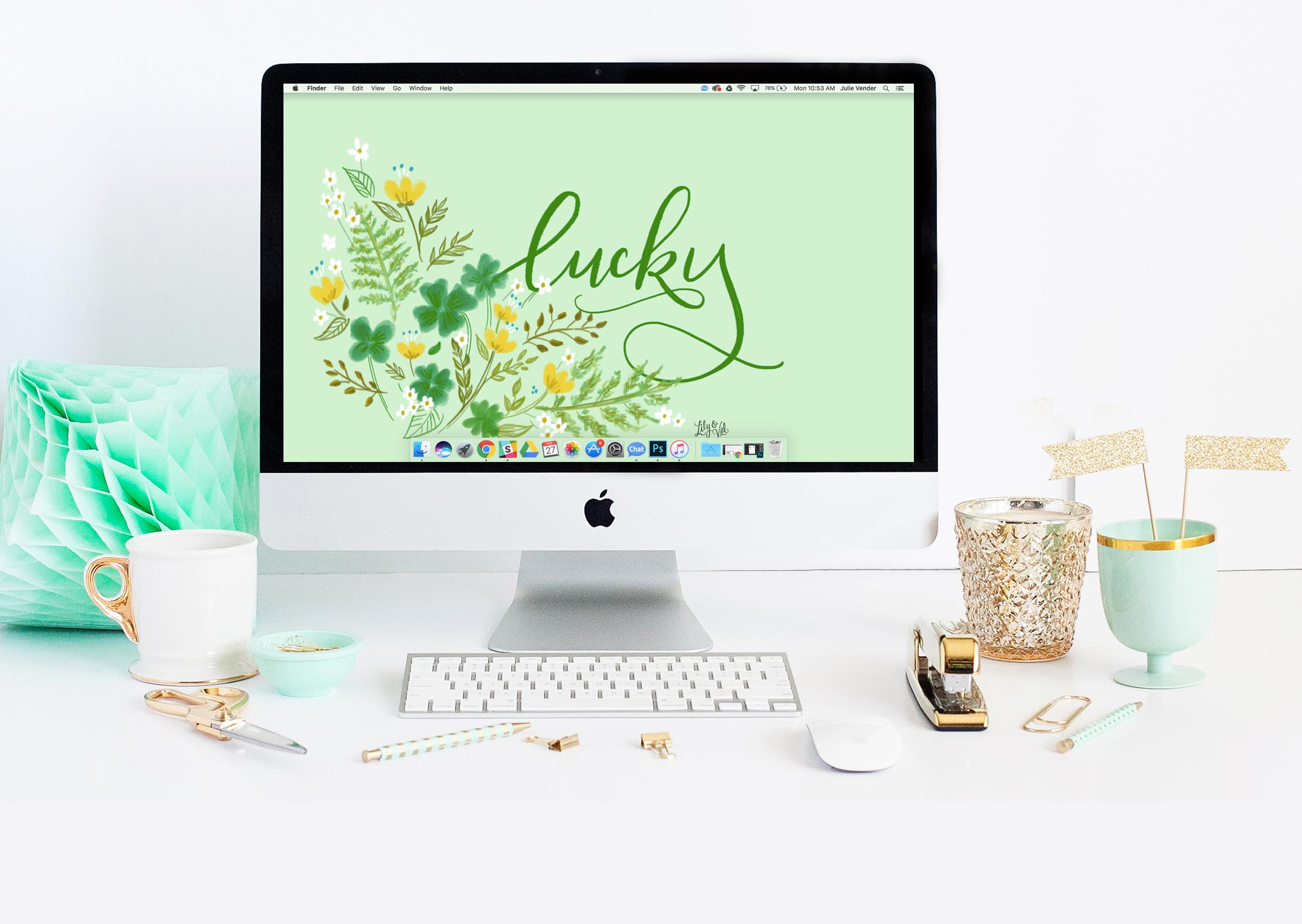 free wallpaper download - shamrocks & luck