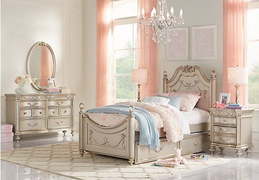 Picture Of Disney Princess Silver 5 Pc Twin Poster Bedroom