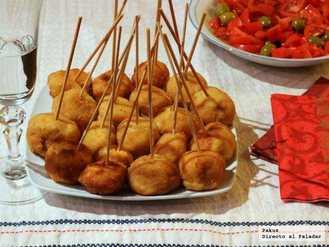 Chupachups de pollo a la villaroy receta de navidad - Cocina navidena espanola ...