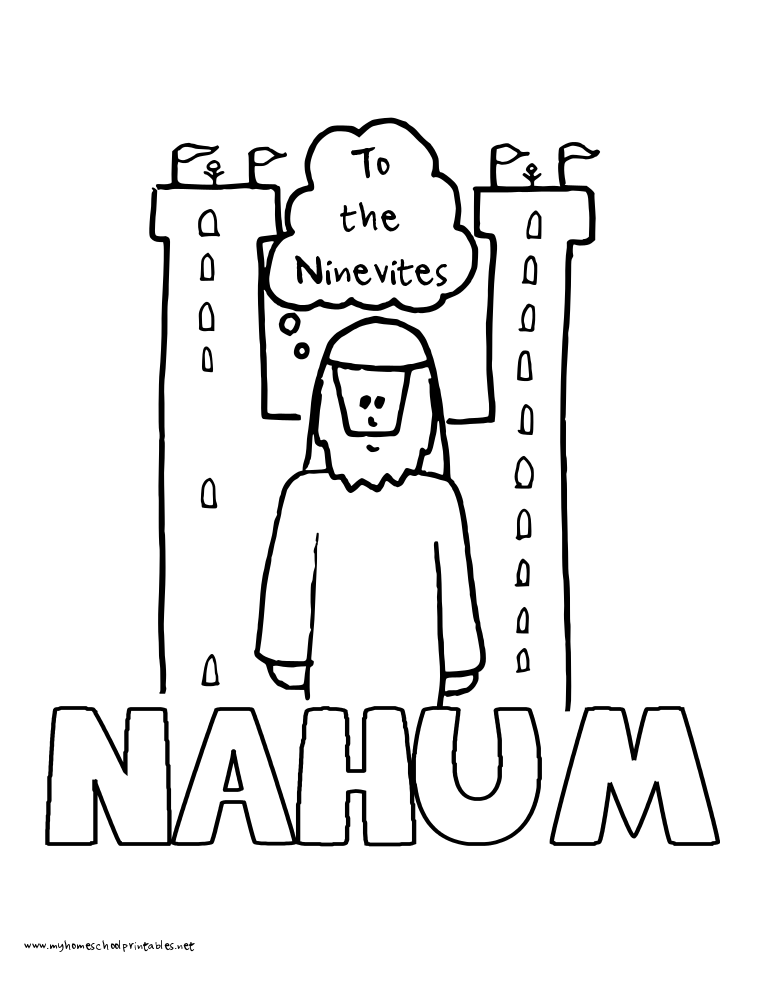 World History Coloring Pages Printables Nahum HistoryQuick PrintColoring