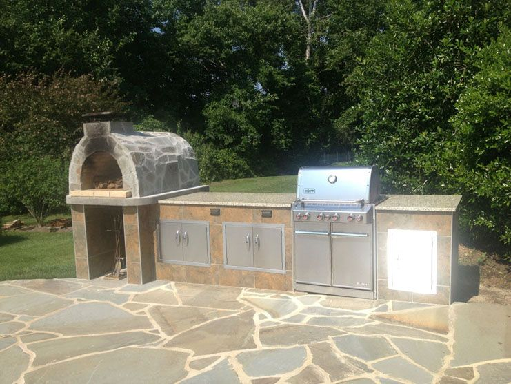 The modjewski family wood fired diy brick pizza oven and bbq in diy patio solutioingenieria Choice Image
