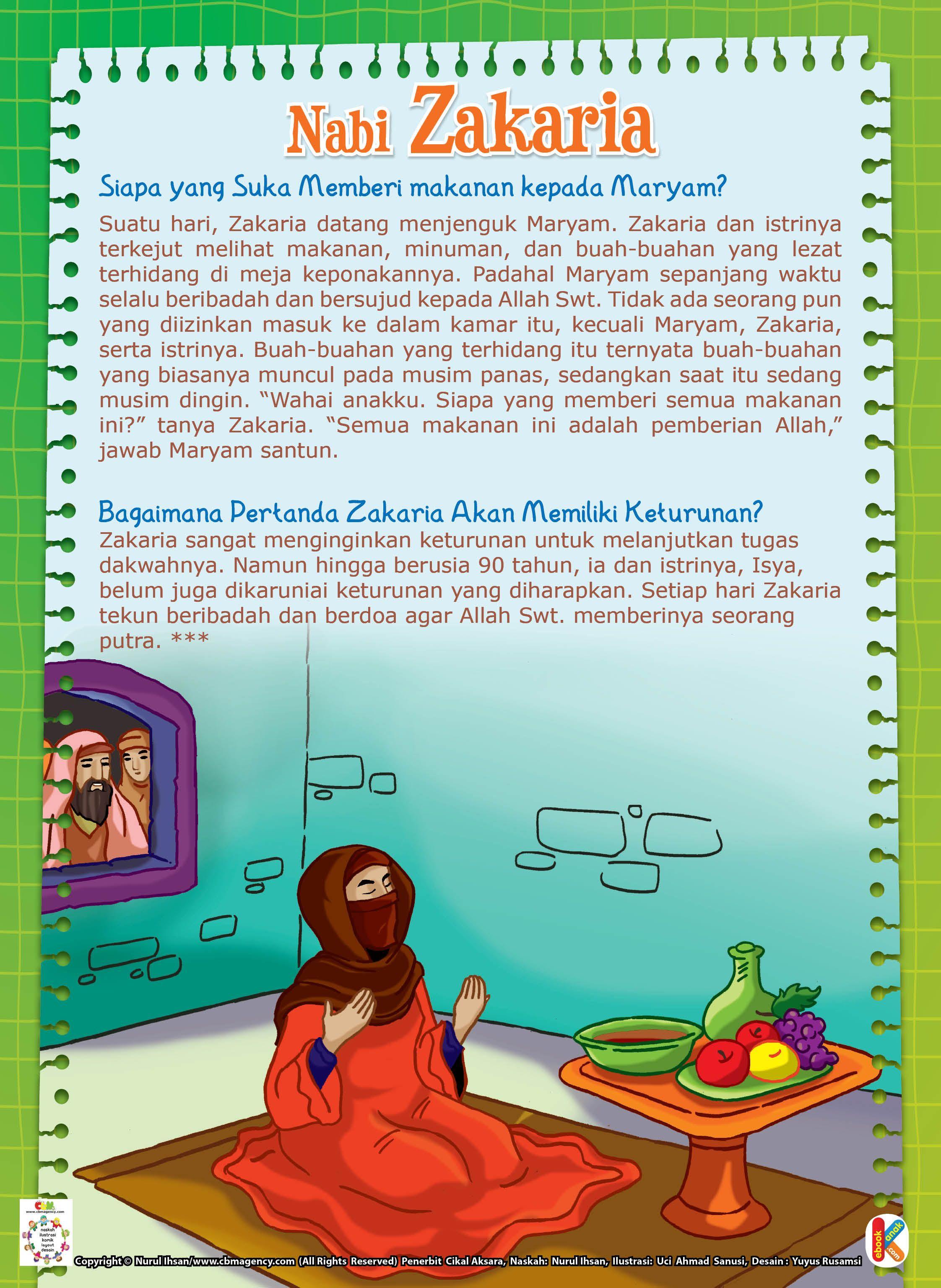 Nabi Zakaria Mendidik Siti Maryam Pendidikan Sejarah Sahabat