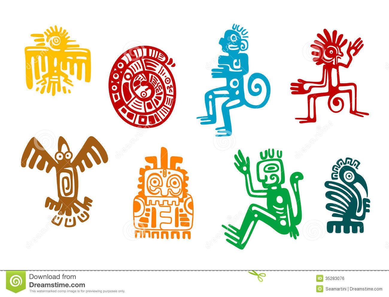 Mbolos Abstractos Del Arte Maya Azteca