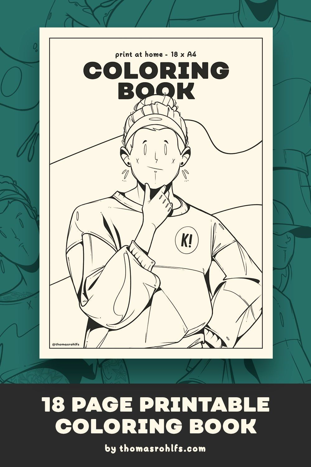 18 Page Printable Coloring Book