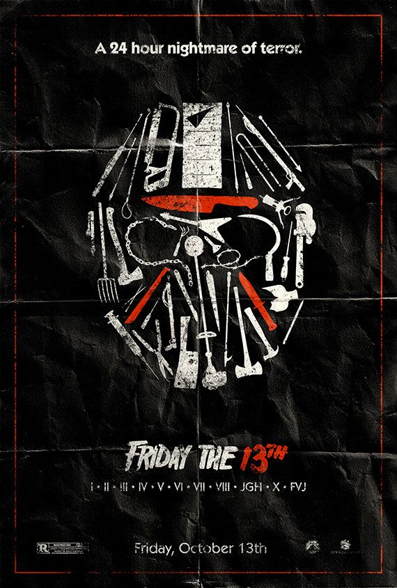 Jason on Friday 12th Not 13th A4 Poster Picture Print Funny Horror Movie Art