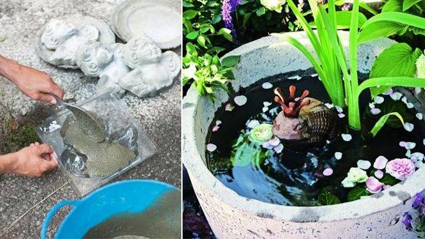 Blumentöpfe und Gartendeko aus Beton selbst gießen