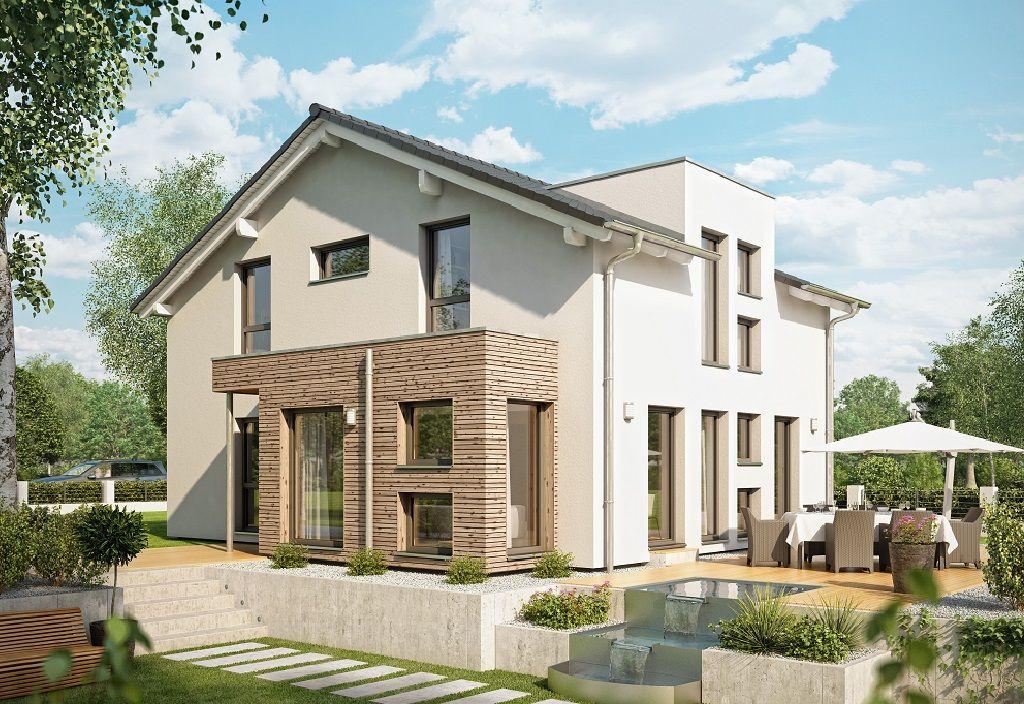 Pin von hausbaudirekt auf hausbaudirekt pinterest haus haus bauen und einfamilienhaus - Erker streichen ...