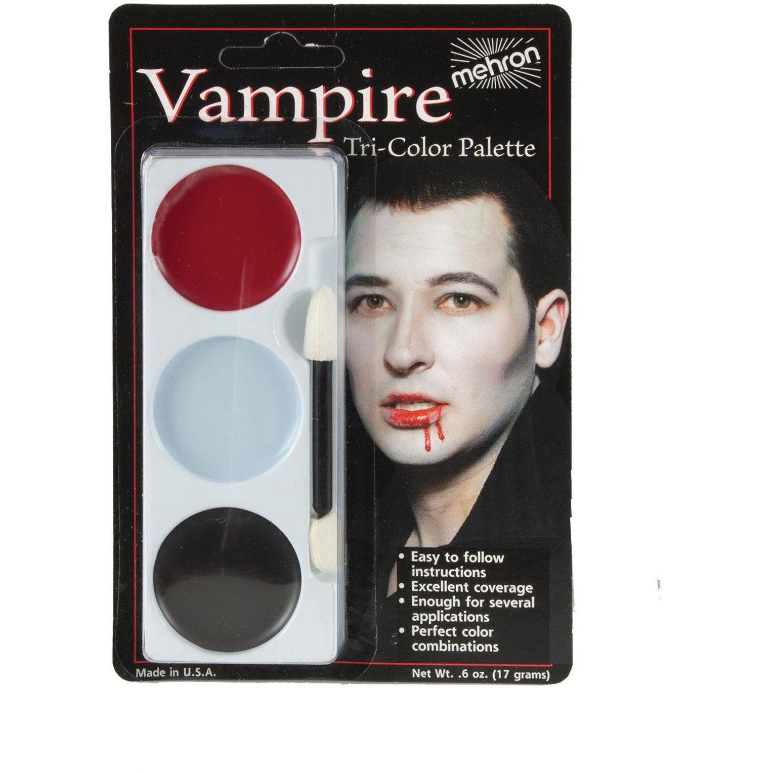 Tri Color Palette Vampire Face paint makeup, Makeup
