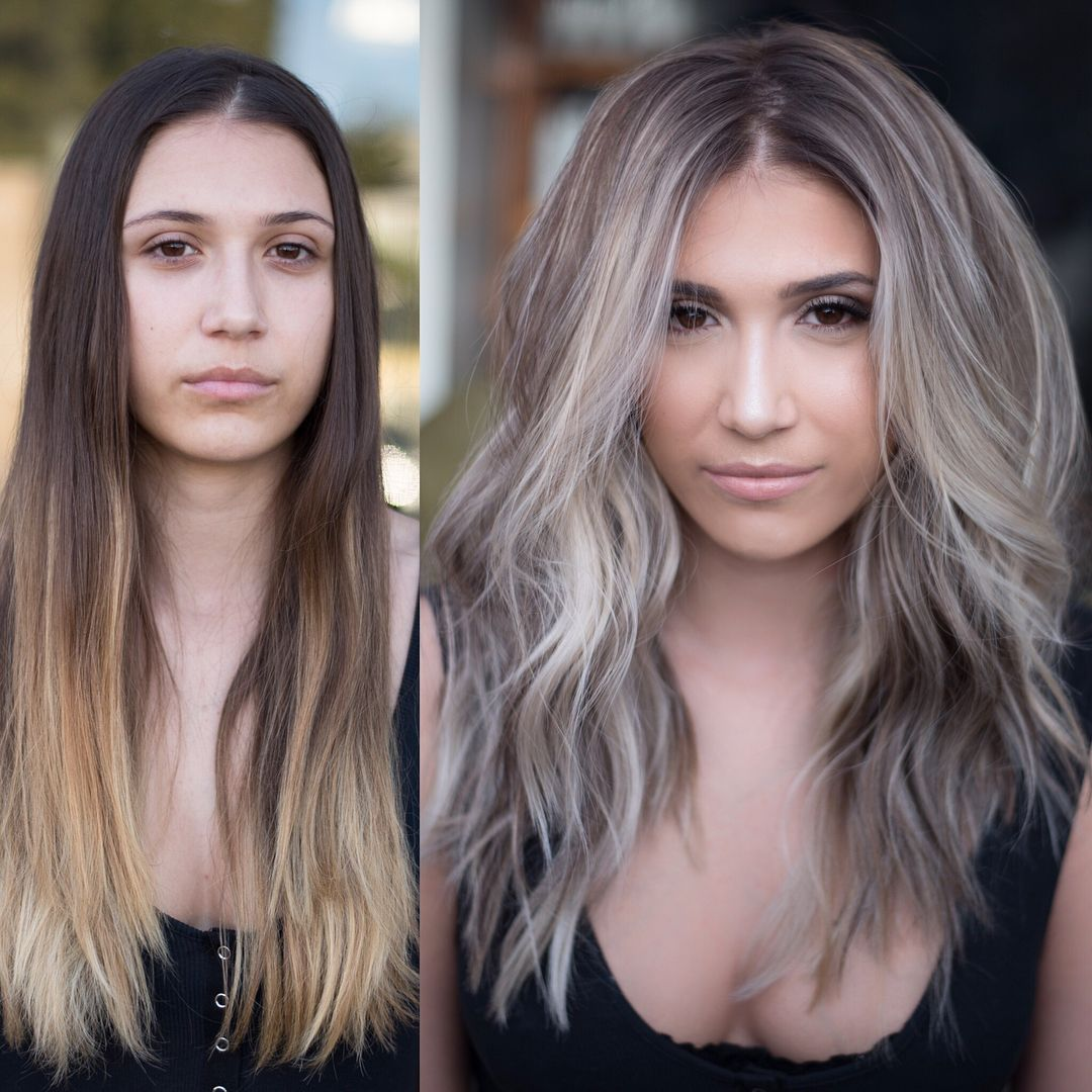 DIMENSIONAL Foilayage! (See technique and formulas in previous post) #LockStitchFoilayage Class Dates/ Location #ashblondebalayage