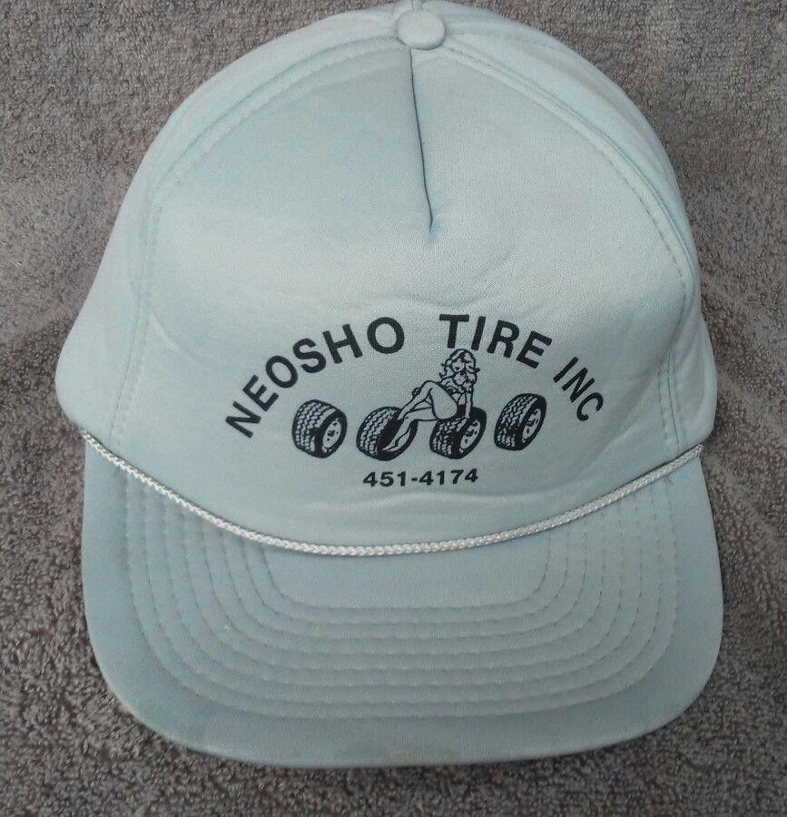 f7a3288eec7431 Neosho Mo Tire Center Hat Cap Vtg Foam Snapback Tires Sexy girl pre area  code  na  Trucker