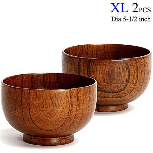 Https Goo Gl Vzsrv8 Cospring Set Of 2 Solid Wood Bowl 5 Inch Dia By 3 1 8 Inc For Rice Soup Dip Decoration Extra Large Price 46 99 Go To
